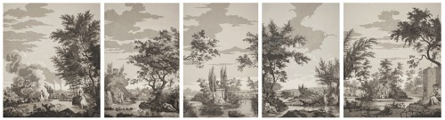 Panoramic wallpapers - circa 1800