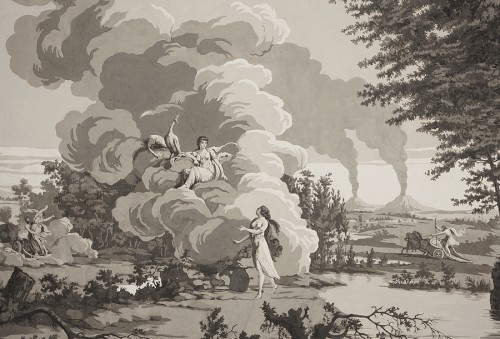 Paintings & Drawings  - Panoramic wallpapers - circa 1800