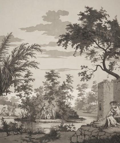Panoramic wallpapers - circa 1800 -
