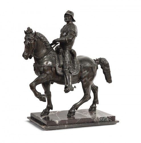 Sculpture  - Pair of bronze equestrian statues - circa 1870