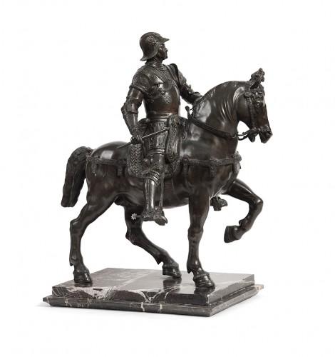Pair of bronze equestrian statues - circa 1870 -