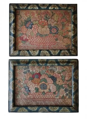 Embroidery on silk, Venice 18th century