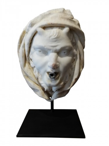 Mascaron fountain head of Fauna 18th century
