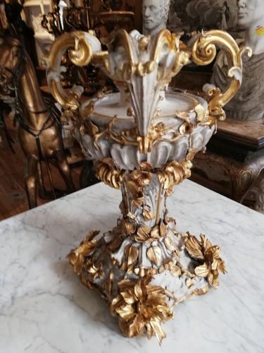 "Carved wooden ""surtout de table"" 18th century -"