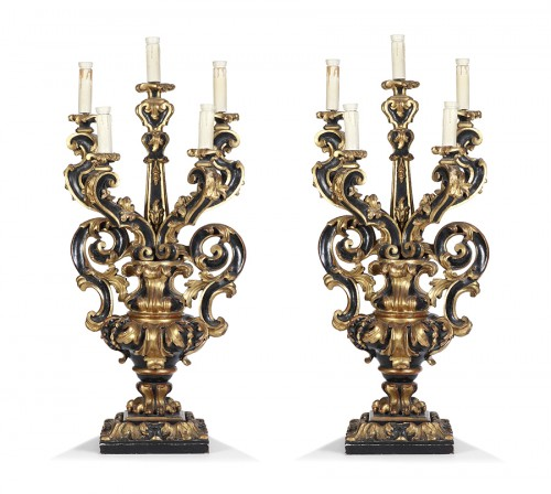 Pair of candelabra Italy  end 17th century