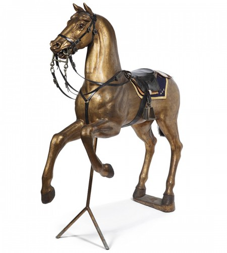 Horse in gilded wood 19th century
