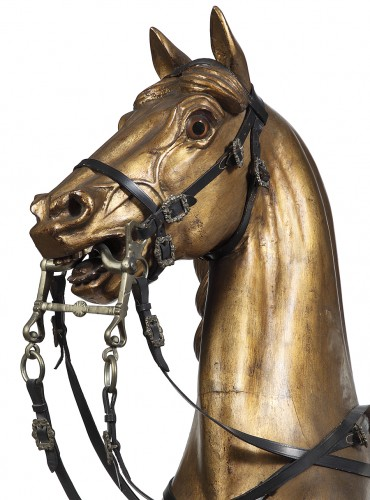 19th century - Horse in gilded wood 19th century