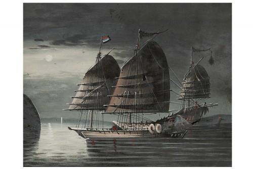 Paintings & Drawings  - Pair of Navy 19th century