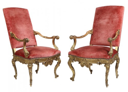 Pair of 18th century Venitian armchairs