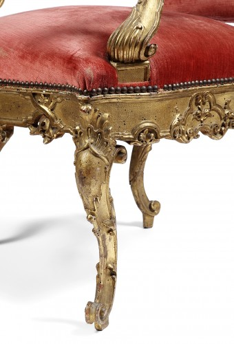 Pair of 18th century Venitian armchairs -