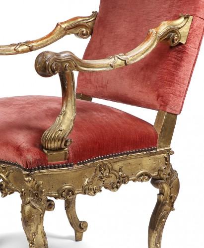 18th century - Pair of 18th century Venitian armchairs