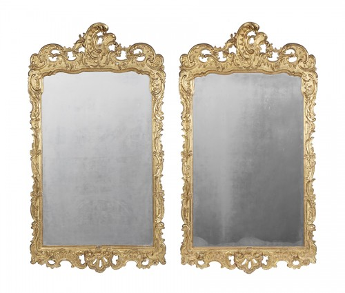 Pair of 18th century spanish mirrors