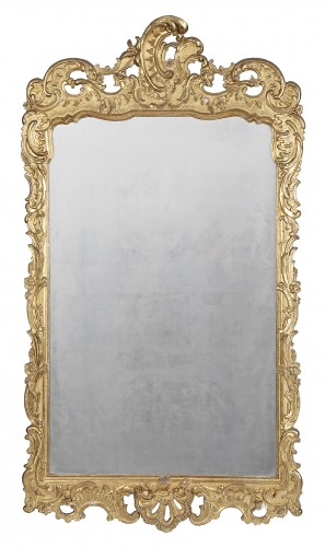 Pair of 18th century spanish mirrors - Mirrors, Trumeau Style