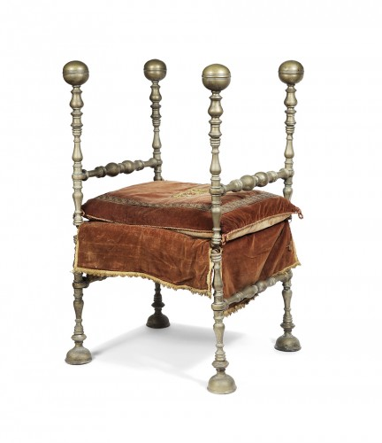 Folding armchair, Italy 17th century - Seating Style