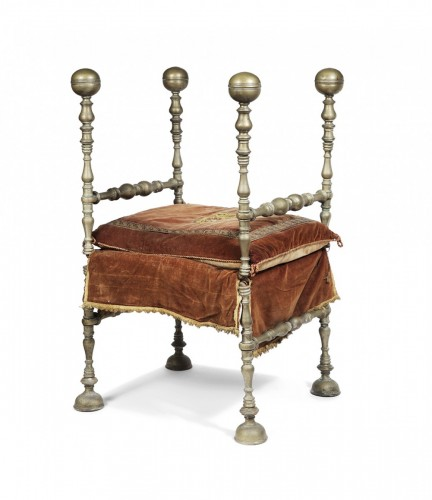 Folding armchair, Italy 17th century -