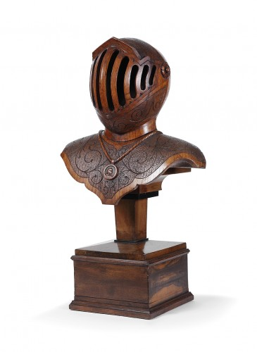 Bust armor carved wood - Decorative Objects Style