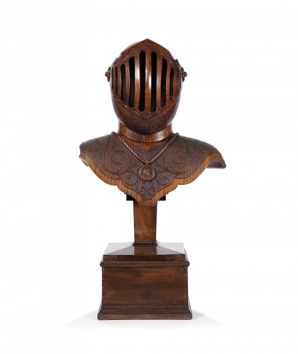 Decorative Objects  - Bust armor carved wood
