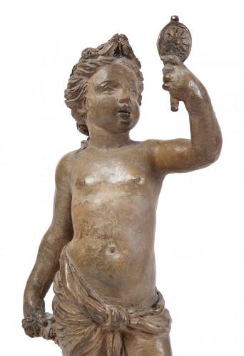 Sculpture  - Pair of terracotta Cherubs - 1769
