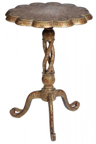 Indian pedestal table, 19th century Kashmir