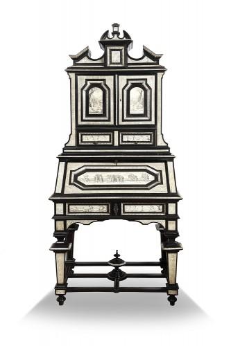 Secretary cabinet by Ferdinando Pogliani - Milan 19th century - Furniture Style Napoléon III