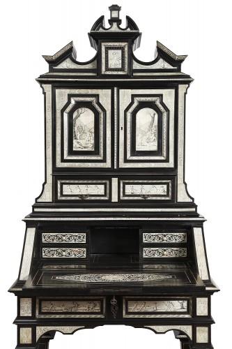 Furniture  - Secretary cabinet by Ferdinando Pogliani - Milan 19th century