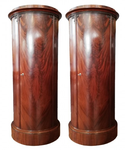 Pair of mahogany veneered furniture, Danmark 19th century
