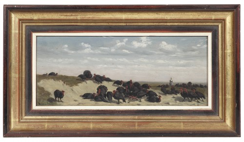 The turkey keeper - Maurice Sand (1823-1889)