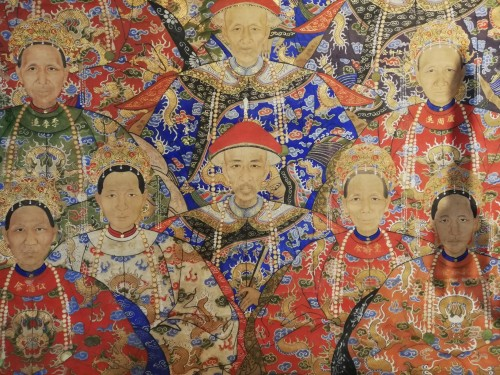 Chinese hanging scroll 19th century -