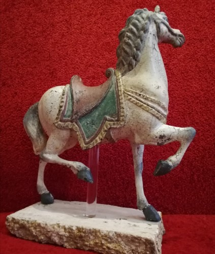 Sculpture  - Horse in wood - Italy 18th century