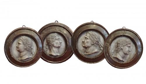 Marble medaillon Roman Emperos 17th century