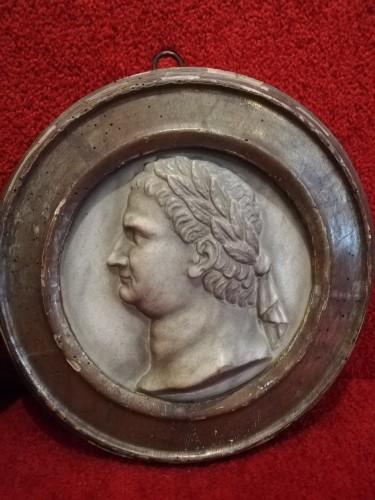 Marble medaillon Roman Emperos 17th century - Sculpture Style