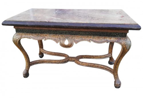 Lacquered wooden middle table, Spain 18th century