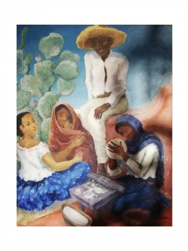 Scene of Mexican life - Marcita Bloch (born in 1903)