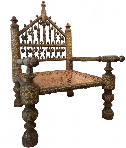 Indian armchair, Kasmir 19th century
