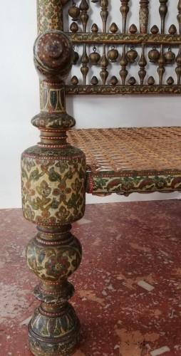 Indian armchair, Kasmir 19th century -