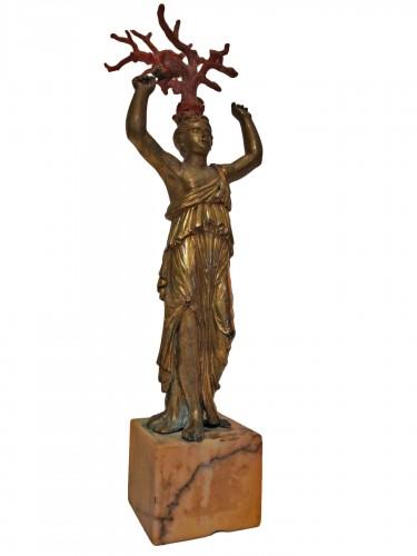 Gilded bronze figurine, Italy 18th century