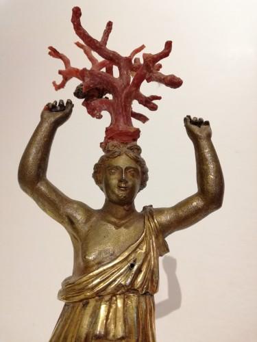 18th century - Gilded bronze figurine, Italy 18th century