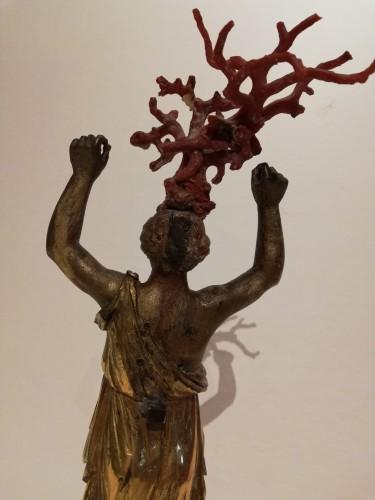 Gilded bronze figurine, Italy 18th century -