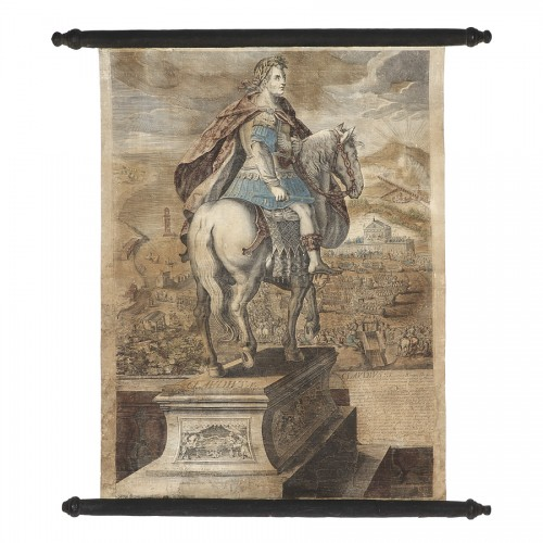 Series of 9 canvas prints from the House of Landry - 17th century - Engravings & Prints Style