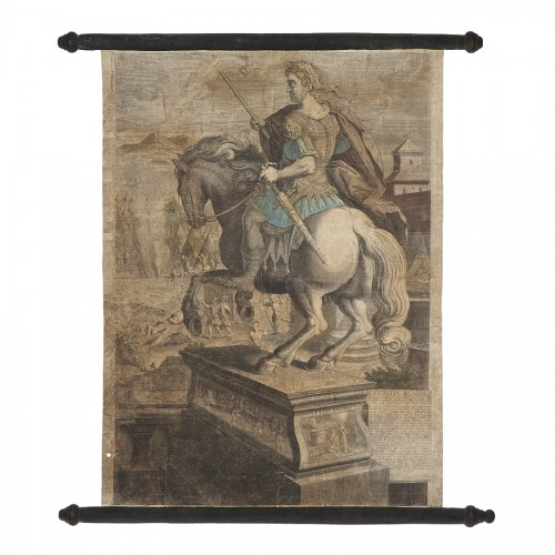 Series of 9 canvas prints from the House of Landry - 17th century -