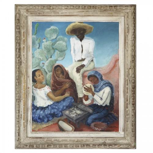 Mexican Life Scene -  Marcita Bloch (née en 1903) - Paintings & Drawings Style