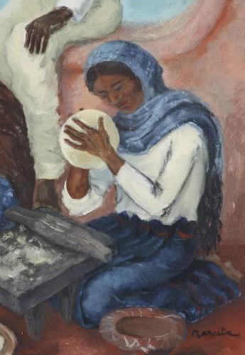 Mexican Life Scene -  Marcita Bloch (née en 1903) -