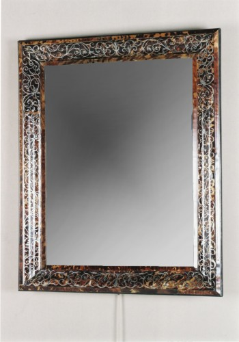 Mirror in brown tortoiseshell, France 17th century - Mirrors, Trumeau Style