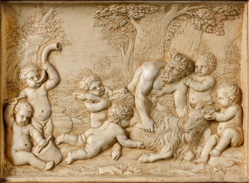 Sculpture  - A stucco bas-relief 18th century