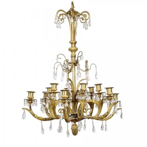 Louis XVI style gilt bronze chandelier - Lighting Style
