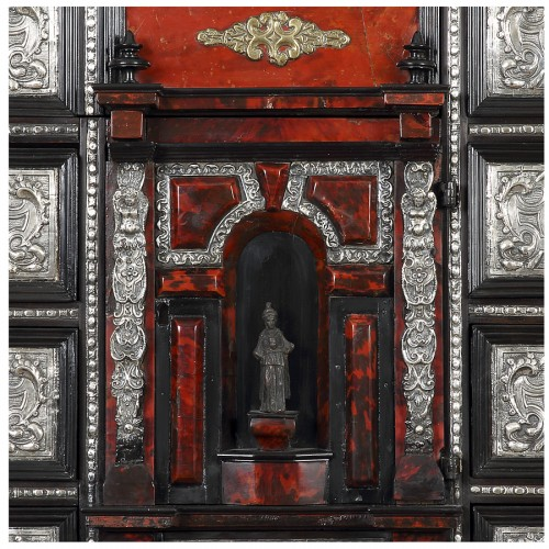 18th century - Italian cabinet and its console - 18th century