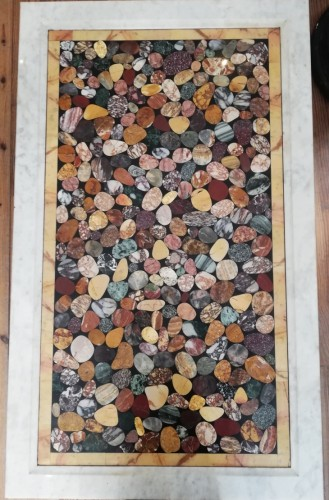Marble marquetry top Italy early 20th century - Architectural & Garden Style