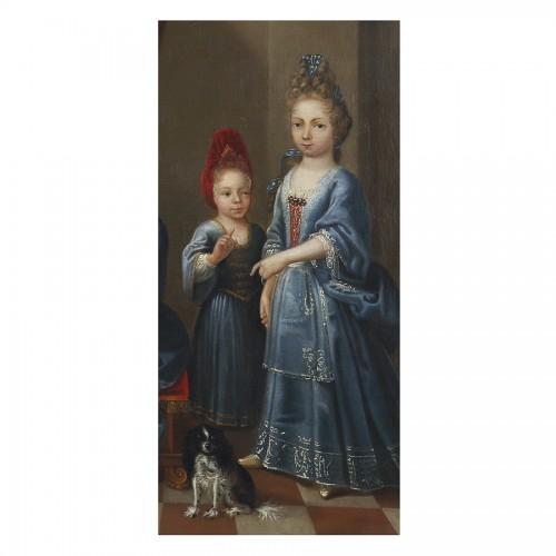 Portrait of Young Girls - Atelier of Pierre Gobert, 18th century -