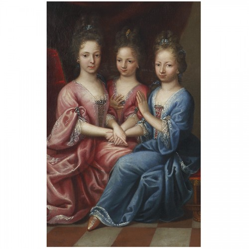 17th century -  Portrait of Young Girls - Atelier of Pierre Gobert, 18th century