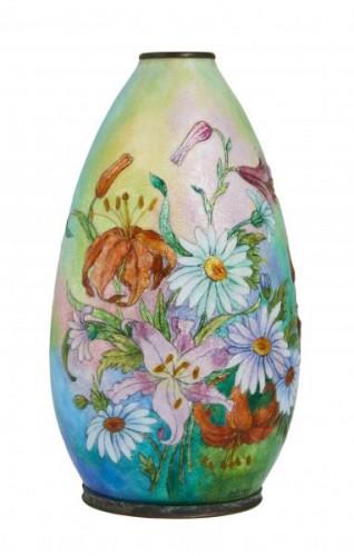 Vase émaillé de Camille Fauré (1874-1956)